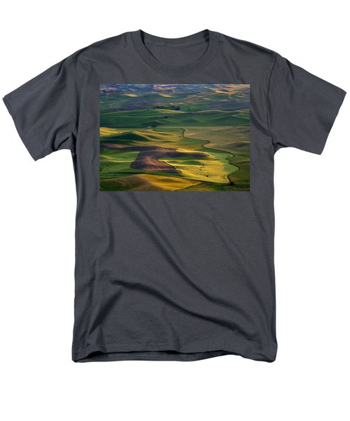 Palouse Shadows Men's T-Shirt  (Regular Fit) by Mike  Dawson