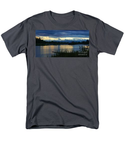 Pano Denali Midnight Sunset Men's T-Shirt  (Regular Fit) by Jennifer White