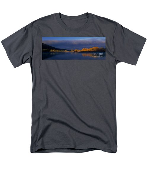 Men's T-Shirt  (Regular Fit) featuring the photograph Panorama Clearing Storm Oxbow Bend Grand Tetons National Park Wyoming by Dave Welling