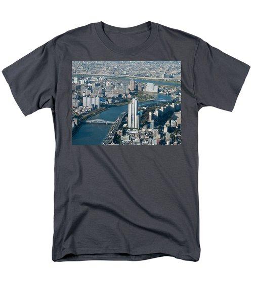Panorama Of Tokyo Men's T-Shirt  (Regular Fit) by Jill Mitchell