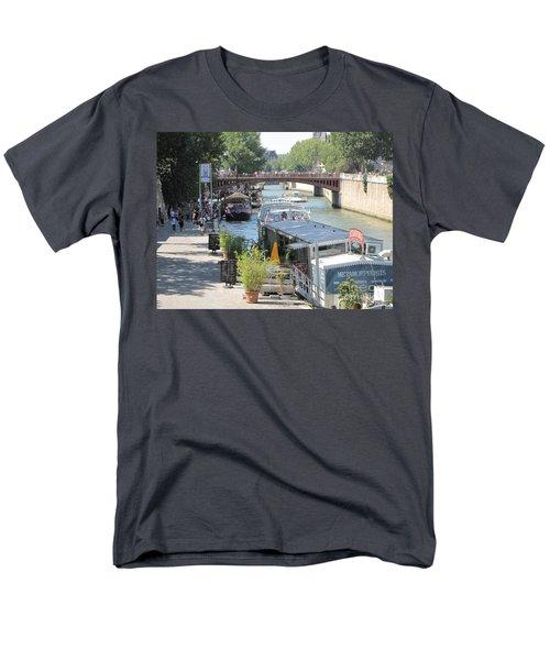 Paris - Seine Scene Men's T-Shirt  (Regular Fit) by HEVi FineArt
