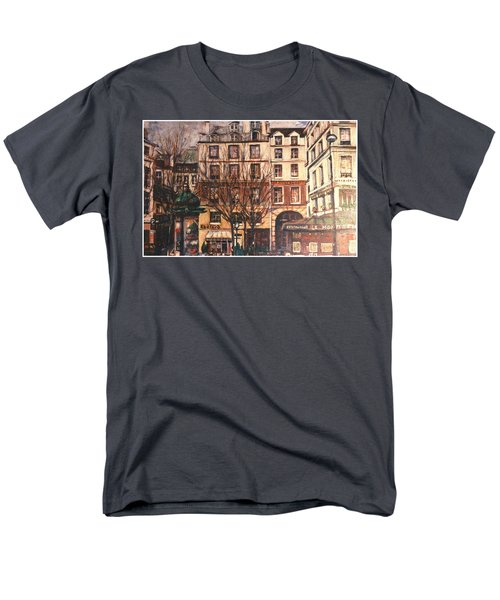 Men's T-Shirt  (Regular Fit) featuring the painting Paris by Walter Casaravilla