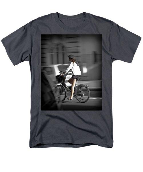 Parisian Girl Cyclist Men's T-Shirt  (Regular Fit) by Maj Seda
