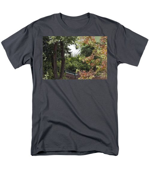 Men's T-Shirt  (Regular Fit) featuring the photograph Park Bench by Kate Brown