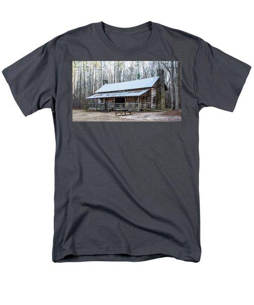 Park Ranger Cabin Men's T-Shirt  (Regular Fit) by Charles Hite