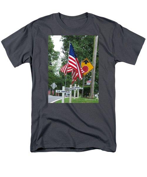 Men's T-Shirt  (Regular Fit) featuring the photograph Past Heros by Marilyn Zalatan