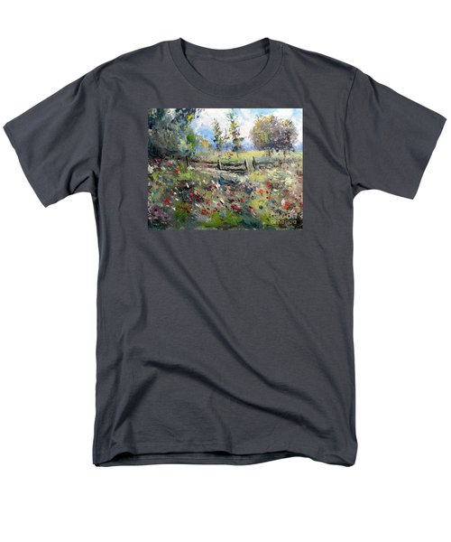 Pasture With Fence Men's T-Shirt  (Regular Fit)