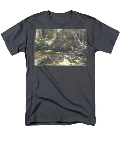 Men's T-Shirt  (Regular Fit) featuring the painting Peace At Darby by Lori Brackett