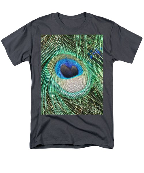 Peacock Feather Men's T-Shirt  (Regular Fit) by Eric  Schiabor