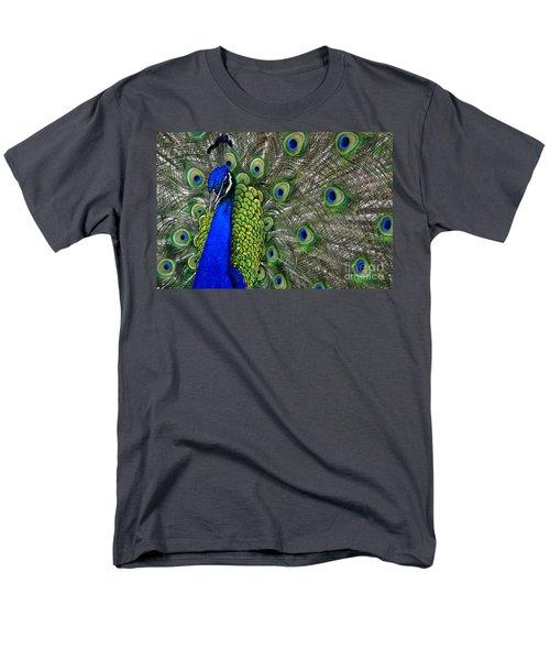 Peacock Head Men's T-Shirt  (Regular Fit) by Debby Pueschel