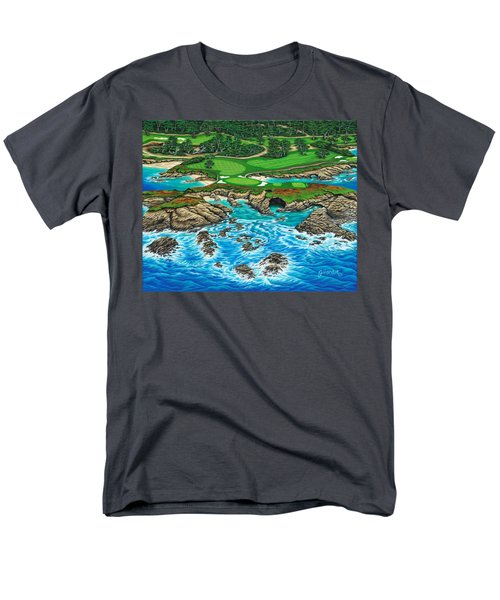 Pebble Beach 15th Hole-north Men's T-Shirt  (Regular Fit) by Jane Girardot