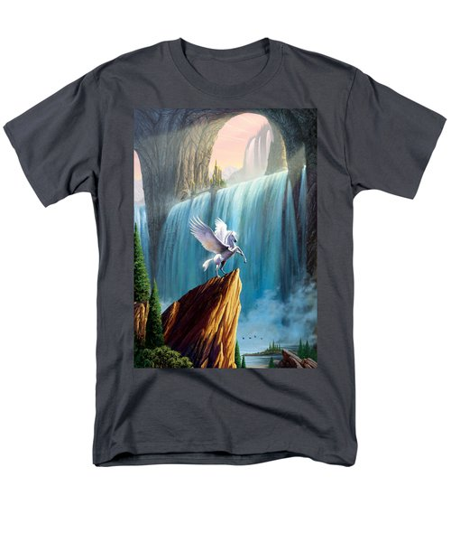 Pegasus Kingdom Men's T-Shirt  (Regular Fit) by Garry Walton