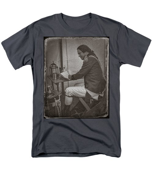 Penning A Letter To King George The Third   Men's T-Shirt  (Regular Fit) by Priscilla Burgers