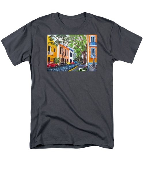 Pensando En El Viejo San Juan Men's T-Shirt  (Regular Fit) by Luis F Rodriguez