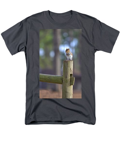 Perched Men's T-Shirt  (Regular Fit) by Gordon Elwell