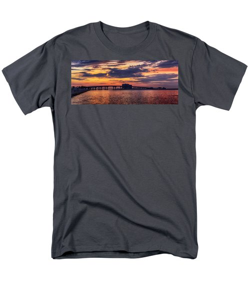 Men's T-Shirt  (Regular Fit) featuring the digital art Perdido Bridge Sunrise by Michael Thomas