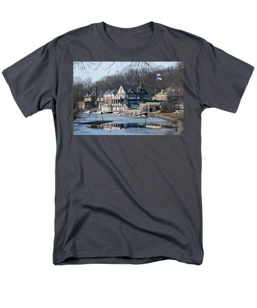 Philadelphia - Boat House Row Men's T-Shirt  (Regular Fit) by Cindy Manero