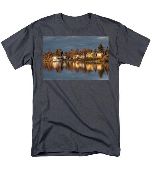 Reflection Of A Village - Phoenix Ny Men's T-Shirt  (Regular Fit) by Everet Regal