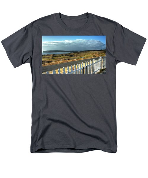 Men's T-Shirt  (Regular Fit) featuring the photograph Picket Fence - Chambers Bay Golf Course by Chris Anderson