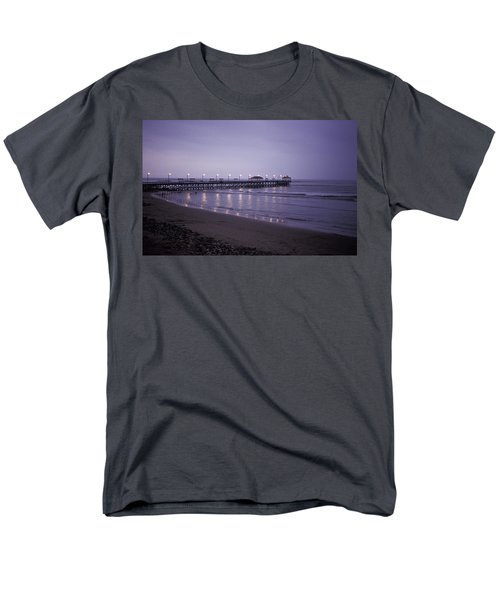 Men's T-Shirt  (Regular Fit) featuring the photograph Pier At Dusk by Lana Enderle