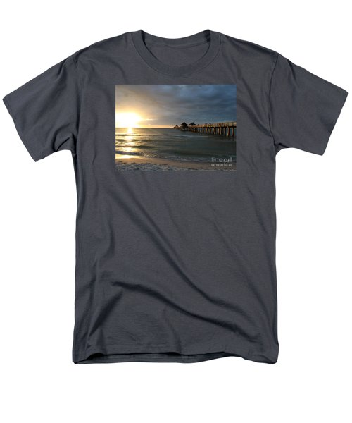 Pier Sunset Naples Men's T-Shirt  (Regular Fit) by Christiane Schulze Art And Photography