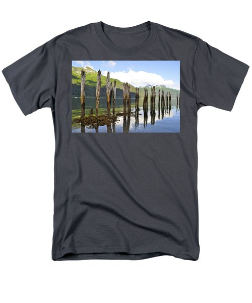 Men's T-Shirt  (Regular Fit) featuring the photograph Pilings by Cathy Mahnke