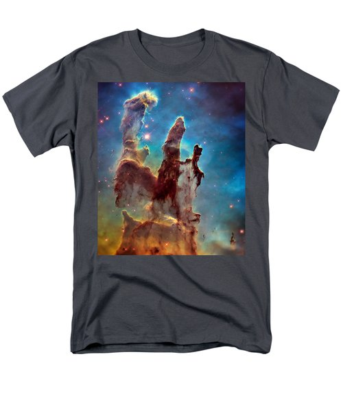 Pillars Of Creation In High Definition Cropped Men's T-Shirt  (Regular Fit) by Jennifer Rondinelli Reilly - Fine Art Photography
