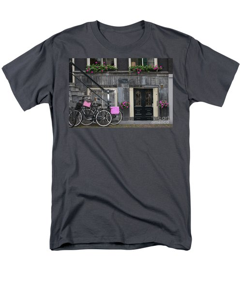 Pink Bikes Of Amsterdam Men's T-Shirt  (Regular Fit) by Mary-Lee Sanders