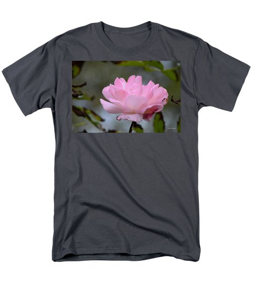 Men's T-Shirt  (Regular Fit) featuring the photograph The Last Rose by Debra Martz