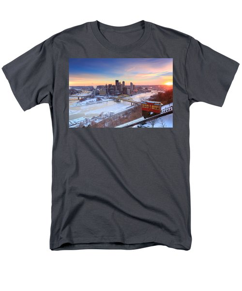 Pittsburgh Winter 2 Men's T-Shirt  (Regular Fit) by Emmanuel Panagiotakis