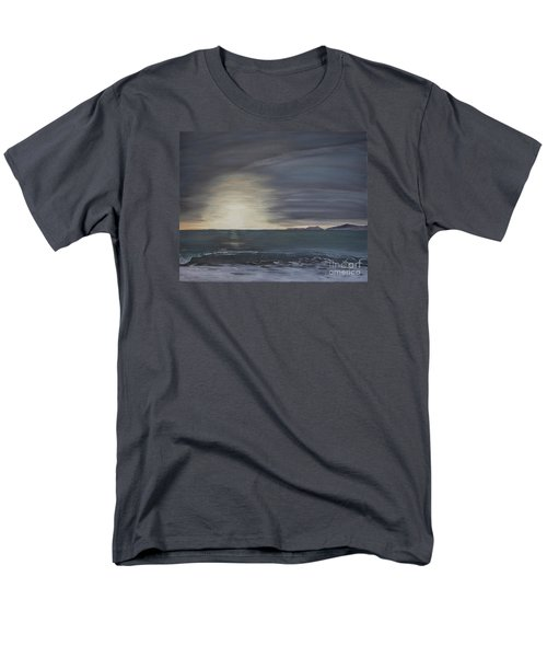 Men's T-Shirt  (Regular Fit) featuring the painting Point Mugu Sunset by Ian Donley