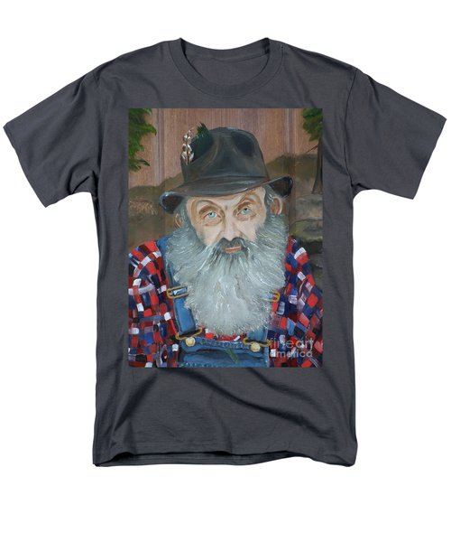Popcorn Sutton - Moonshiner - Portrait Men's T-Shirt  (Regular Fit) by Jan Dappen