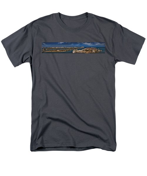 Port Of Miami Panoramic Men's T-Shirt  (Regular Fit) by Susan Candelario