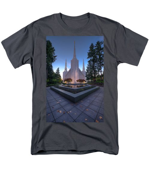 Portland Temple Men's T-Shirt  (Regular Fit) by Dustin  LeFevre