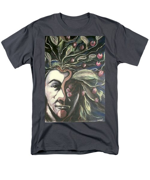 Men's T-Shirt  (Regular Fit) featuring the pastel  Self Portrait  by Carrie Maurer