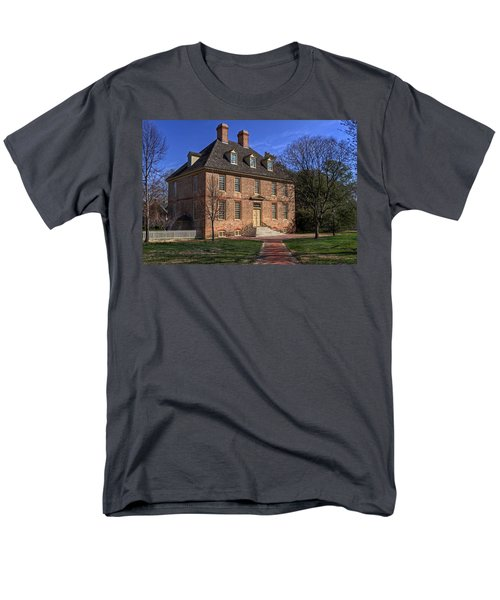 Men's T-Shirt  (Regular Fit) featuring the photograph President's House College Of William And Mary by Jerry Gammon