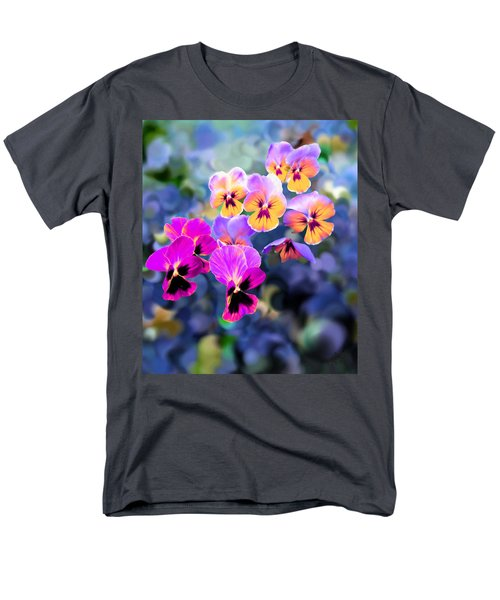 Pretty Pansies 3 Men's T-Shirt  (Regular Fit) by Bruce Nutting