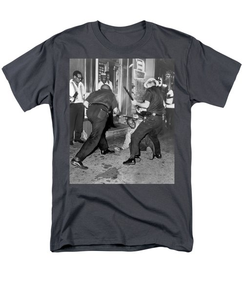 Protester Clubbed In Harlem Men's T-Shirt  (Regular Fit) by Underwood Archives