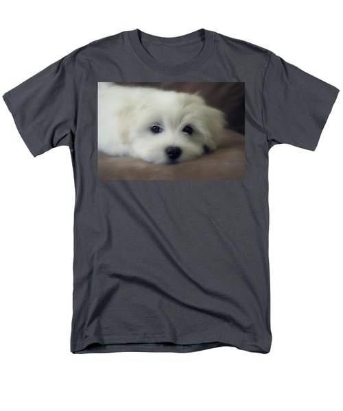 Puppy Eyes Men's T-Shirt  (Regular Fit) by Melanie Lankford Photography