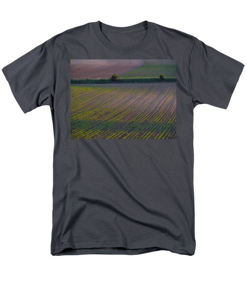 Men's T-Shirt  (Regular Fit) featuring the photograph Purple Fields by Evelyn Tambour