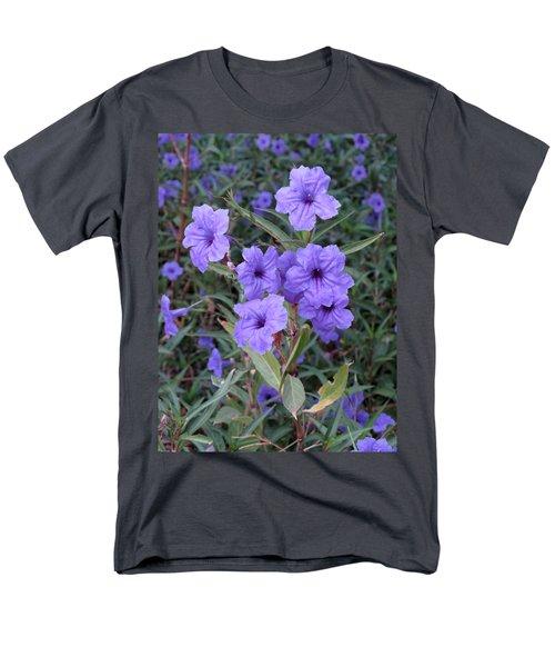 Purple Flowers Men's T-Shirt  (Regular Fit) by Laurel Powell