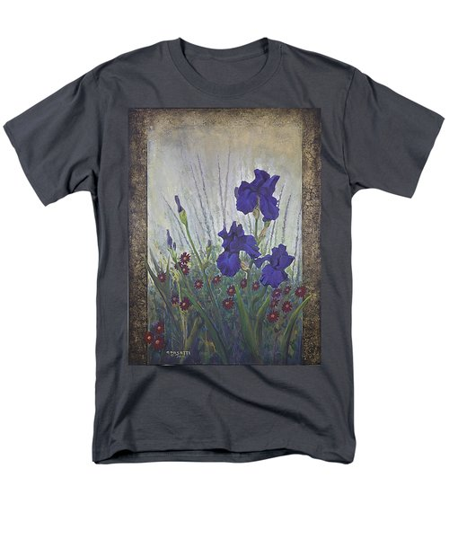 Men's T-Shirt  (Regular Fit) featuring the painting Purple Iris by Rob Corsetti