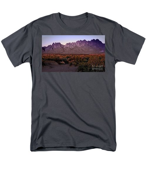 Men's T-Shirt  (Regular Fit) featuring the photograph Purple Mountain Majesty by Barbara Chichester