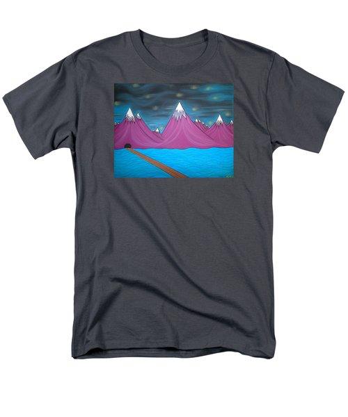Purple Mountains Men's T-Shirt  (Regular Fit) by Robert Nickologianis