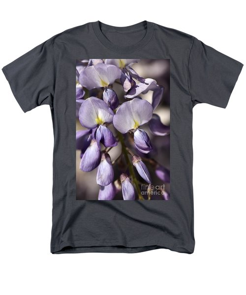 Men's T-Shirt  (Regular Fit) featuring the photograph Purple Of Wisteria by Joy Watson