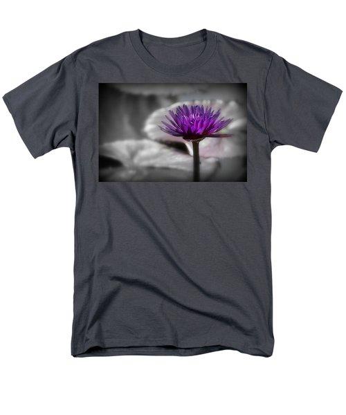 Purple Pond Lily Men's T-Shirt  (Regular Fit) by Lynn Sprowl