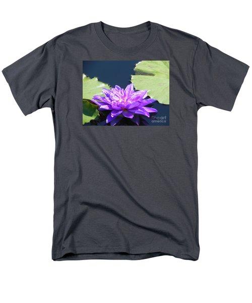 Men's T-Shirt  (Regular Fit) featuring the photograph Purple Waterlilie Flower by Chrisann Ellis