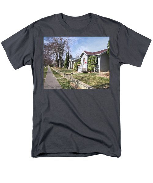 Quiet Street Waiting For Spring Men's T-Shirt  (Regular Fit) by Donald S Hall