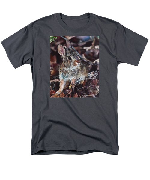 Men's T-Shirt  (Regular Fit) featuring the painting Rabbit In The Woods by Joshua Martin