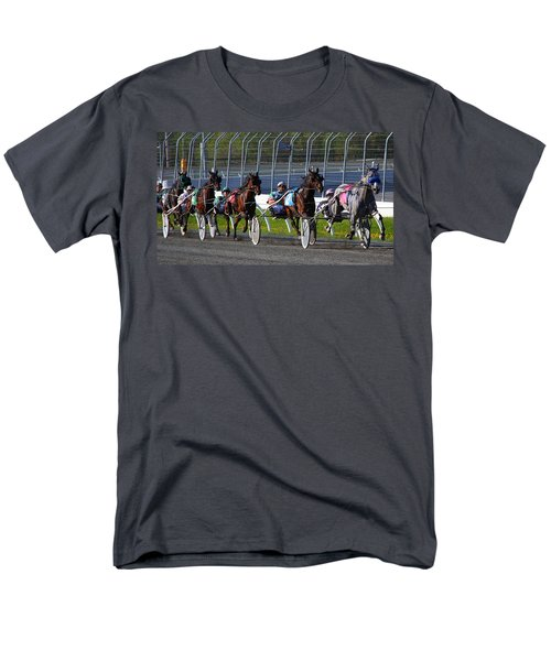 Men's T-Shirt  (Regular Fit) featuring the photograph Race To The Finish by Davandra Cribbie